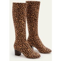 Round Toe Stretch Boots Natural Women Boden, Natural
