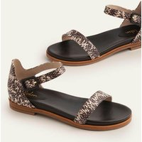 Katie Comfort Sandals Black/White Snake Women Boden, Black/White Snake