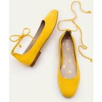 Effie Ballet Flats Yellow Women Boden, Yellow