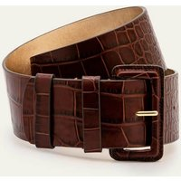 Boden Wide Leather Belt Brown Women Boden, Brown