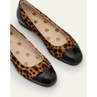Bella Ballerinas Tan Leopard/Black Women Boden, Tan Leopard/Black