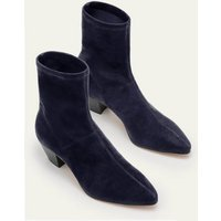 Western Stretch Boots Navy Women Boden, Navy