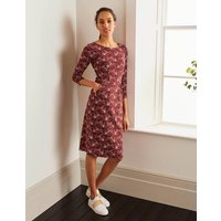 Penny Jersey Dress Brown Women Boden, Brown