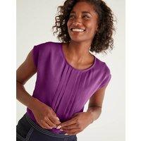 Dakota Jersey Top Purple Women Boden, Purple