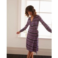 Elodie Jersey Wrap Dress Plum Blossom, Crystals Women Boden, Plum Blossom, Crystals