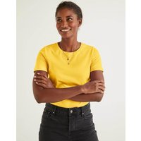 Supersoft Short Sleeve Tee Yellow Women Boden, Yellow
