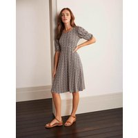Lily Puff Sleeve Jersey Dress Pink Women Boden, Pink
