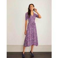 Lavinia Jersey Wrap Dress Jewel Purple, Abstract Animal Women Boden, Jewel Purple, Abstract Animal