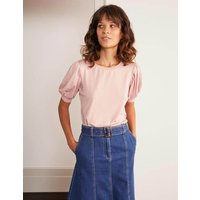Holly Puff Sleeve Jersey Top Pink Women Boden, Pink