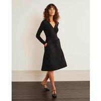 Layla Jersey Dress Black Women Boden, Black