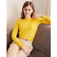 Eldon Cotton Jumper Yellow Women Boden, Yellow