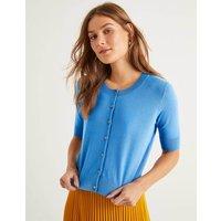 Favourite Cotton Crop Cardigan Blue Women Boden, Blue
