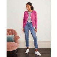 Eldon Cotton Crew Cardigan Pink Women Boden, Pink