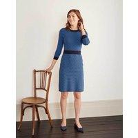 Phoebe Knitted Dress Lomond Blue, Diamond Women Boden, Lomond Blue, Diamond