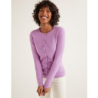 Cashmere Crew Cardigan Purple Women Boden, Purple