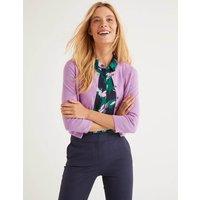 Cashmere Crop Cardigan Purple Women Boden, Purple