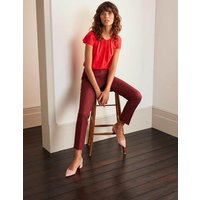 Richmond 7/8 Trousers Maroon Women Boden, Maroon