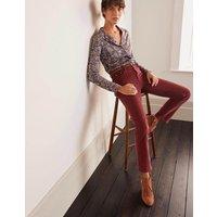 Cord Slim Straight Jeans Maroon Women Boden, Maroon