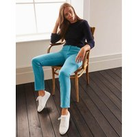 Cord Slim Straight Jeans Blue Christmas Boden, Blue