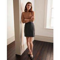 Morleigh Leather Mini Skirt Black Women Boden, Black