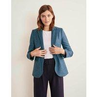Atkins British Tweed Blazer Blue Women Boden, Blue