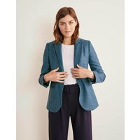 Atkins British Tweed Blazer Dark Blue Herringbone Women Boden, Dark Blue Herringbone