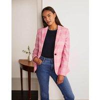 Atkins British Tweed Blazer Pink Check Women Boden, Pink Check