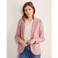 Atkins British Tweed Blazer Pink Herringbone Women Boden, Pink Herringbone