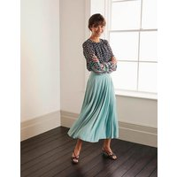 Musgrove Pleated Skirt Icicle Green Women Boden, Icicle Green
