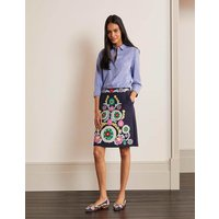 Riley Embroidered Mini Skirt Navy Women Boden, Multicouloured