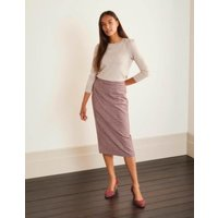 Carbury Pencil Skirt Navy/Red Check Women Boden, Navy/Red Check