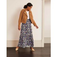 Ashburnham Maxi Skirt Grey Women Boden, Metallic