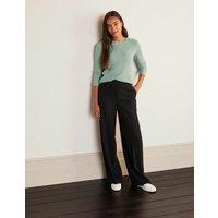 Kintore Wide Leg Trousers Black Women Boden, Black