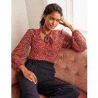 Imogen Blouse Red, English Ditsy Women Boden, Red, English Ditsy