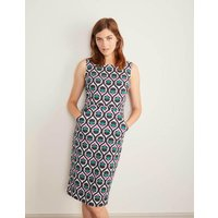 Heather Textured Dress Navy Women Boden, Navy