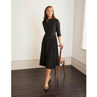 Alma Pleated Shirt Dress Black Women Boden, Black