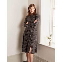 Margot Dress Black, Regular Dot Women Boden, Black, Regular Dot