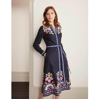 Riley Embroidered Dress Navy Women Boden, Navy