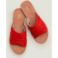 Leonora Raffia Slides Red Women Boden, Red