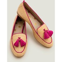 Boden Rebecca Raffia Loafers Pink Women Boden, Pink