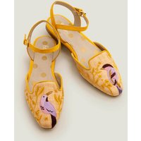 Miriam Raffia Flats Yellow Women Boden, Yellow