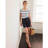 Boden Short Sleeve Breton Multi Women Boden, Blue