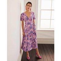 Cassia Jersey Midi Dress Purple Women Boden, Purple