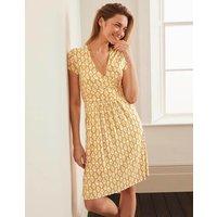 Lola Jersey Dress Tuscan Sun, Tropical Stamp Women Boden, Tuscan Sun, Tropical Stamp