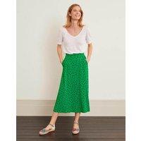 Jersey Midi Skirt Green Women Boden, Green