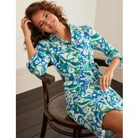 Rowena Jersey Shirt Dress Green Women Boden, Green