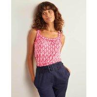 Yolande Pompom Jersey Vest Pink Women Boden, Camel