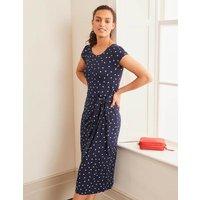 Tamara Jersey Wrap Midi Dress Navy Women Boden, Ivory