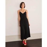 Hope Jersey Midi Dress Black Women Boden, Black