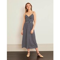 Hope Jersey Midi Dress Navy Women Boden, Ivory